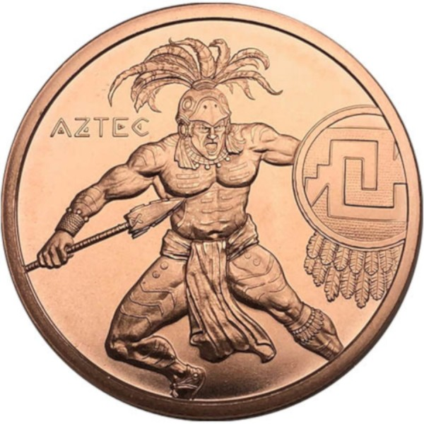 Aztec 1 oz Copper Round | Warrior Series