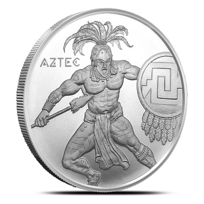 Aztec 1 oz Silver Round | Warrior Series