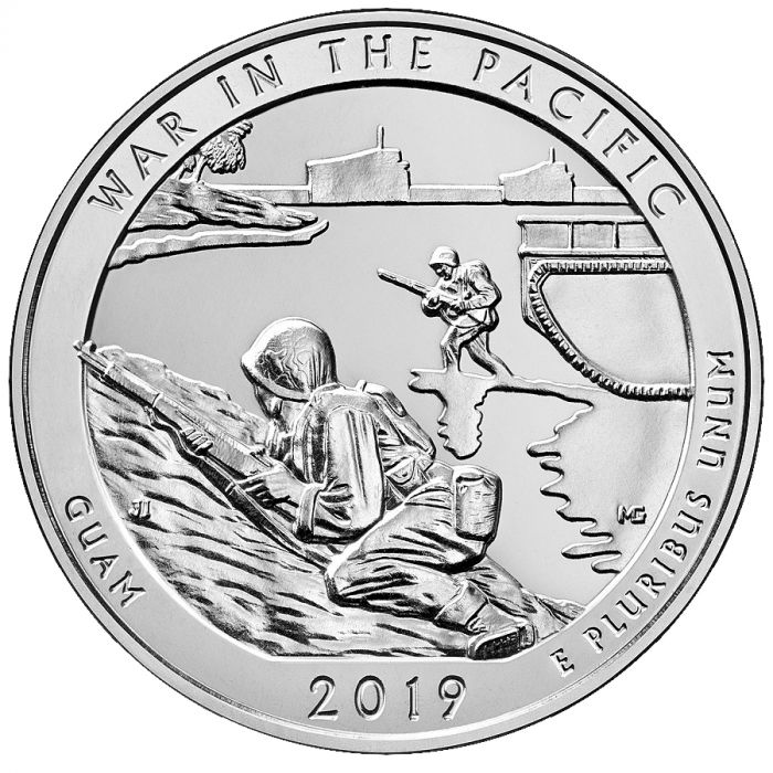 2019 5 oz Silver ATB War in the Pacific, Guam