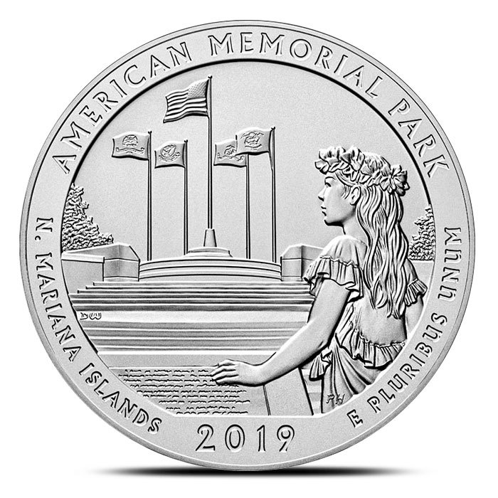 2019 5 oz Silver ATB American Memorial Park, Mariana Is
