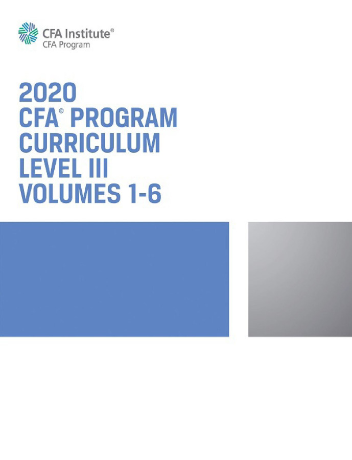 CFA 2020 LEVEL 3 COMPLETE PACKAGE + VIDEO LECTURE
