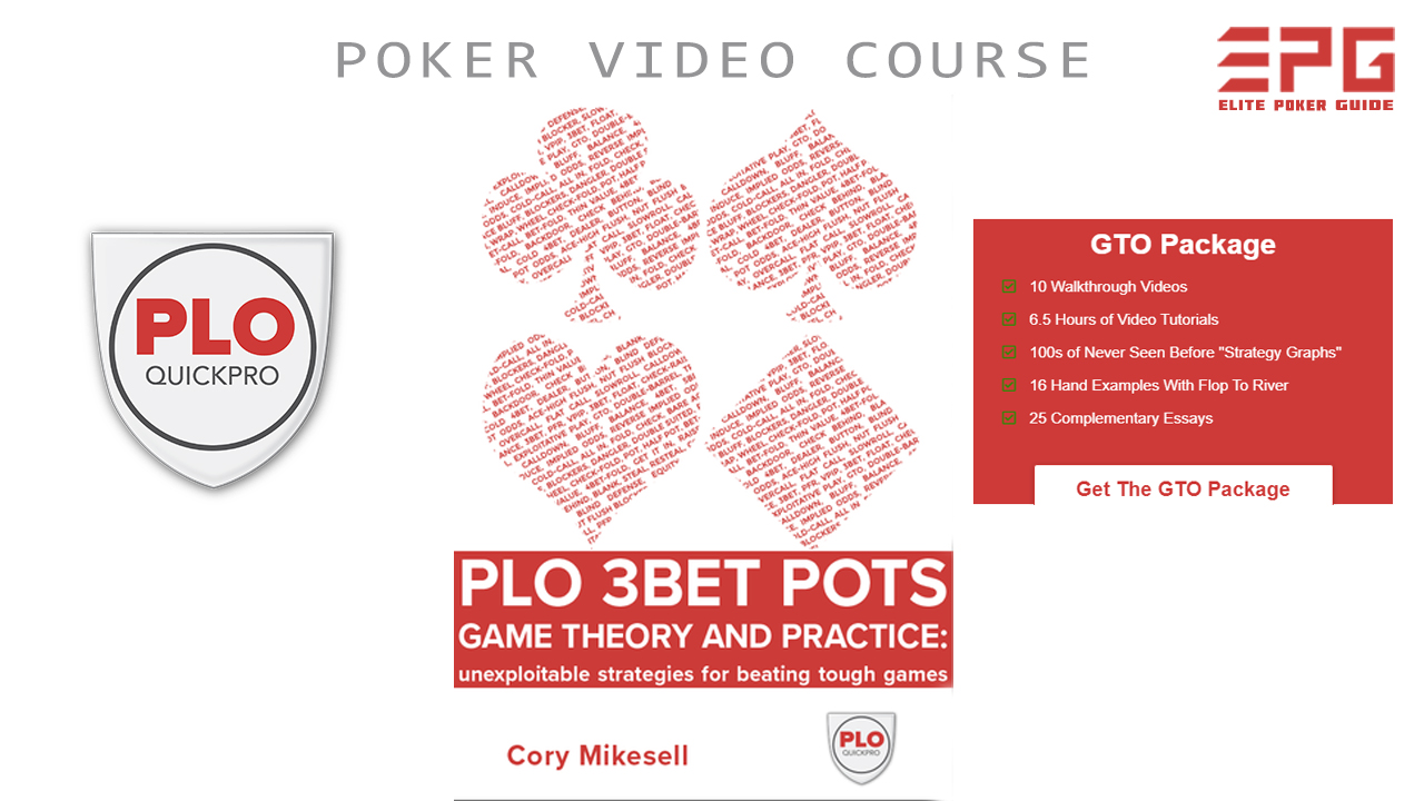 PLOQUICKPRO 3BET POTS THEORY AND PRACTICE (GTO EDITION)