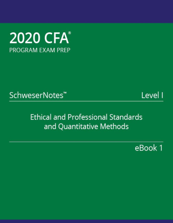 CFA 2020 LEVEL 1 COMPLETE PACKAGE + VIDEO LECTURE