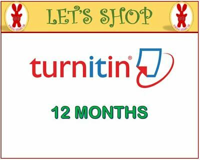 TurnIt IN PLAGIARISM ACCT. - UNLIMITED WORD [12 MONTHS]