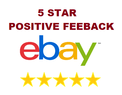 5x eBay Reviews For Sale 5 Star Positive Feedback
