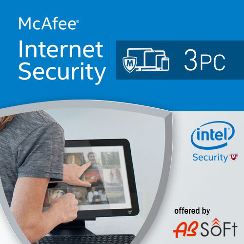 McAfee Internet Security 2020 3 PC 1 Year License Antiv