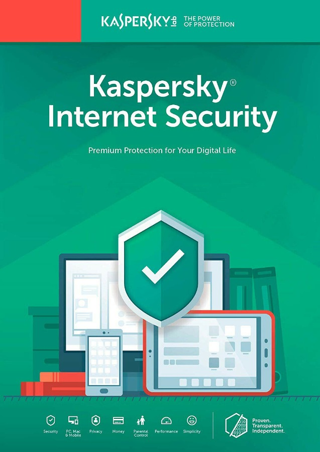 Kaspersky Internet Security 1 PC 1 Year 2020 Global Key