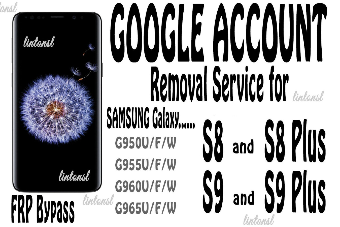 Google Account FRP Removal Service Samsung Galaxy S8 S8