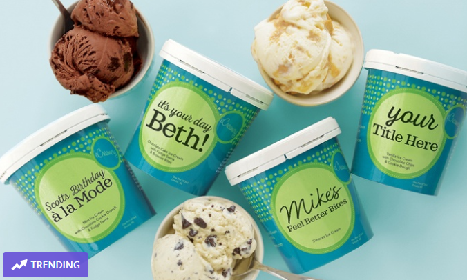 ( $130) eCreamery: Eight Personalized Pints - coupon