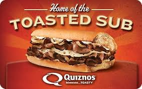 Quiznos - $20 Gift Card - Instant!