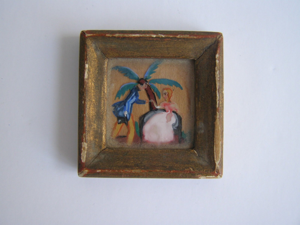 19th Century miniature watercolor painting