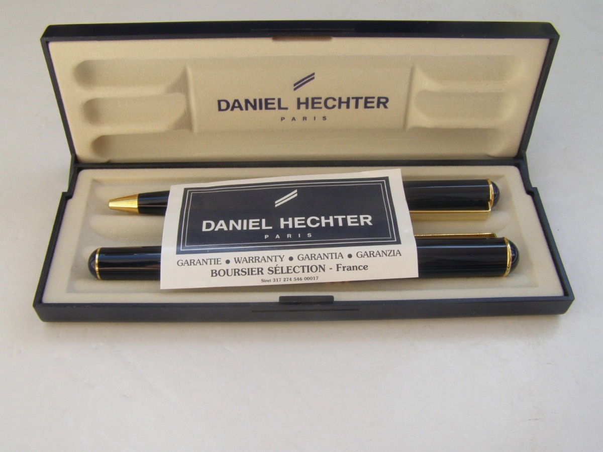 DANIEL HECHTER PARIS Pair of 18kt Gold Plated Pens