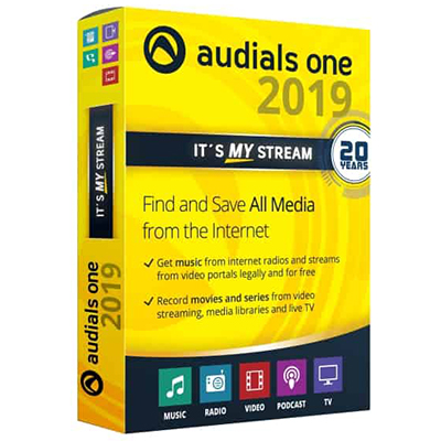 Audials One Platinum 2019 Full version Lifetime License