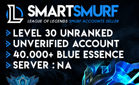 League of Legends Account NA LOL Smurf Unranked 40.000+
