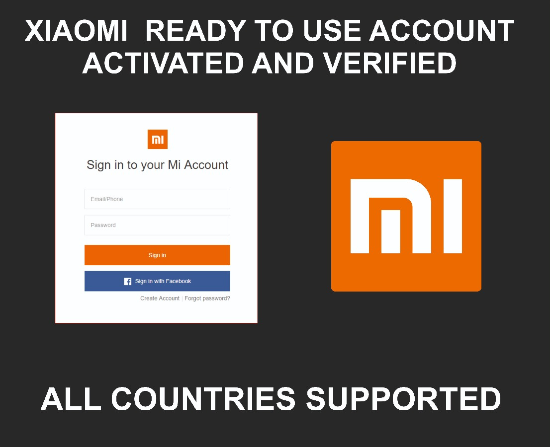 Xiaomi Account Ready To Use + Email Address, Any Region