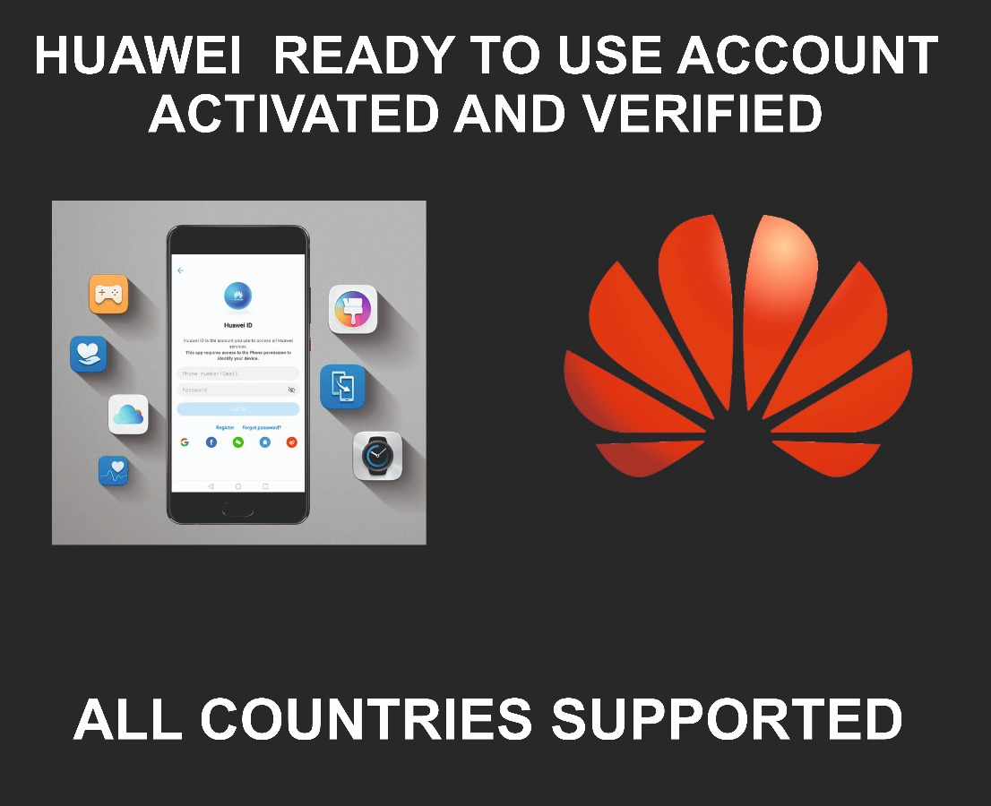 Huawei Account Ready To Use + Email Address, Any Region