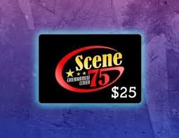 Scene75 with PIN $25 e-gift! Instant Delivery!