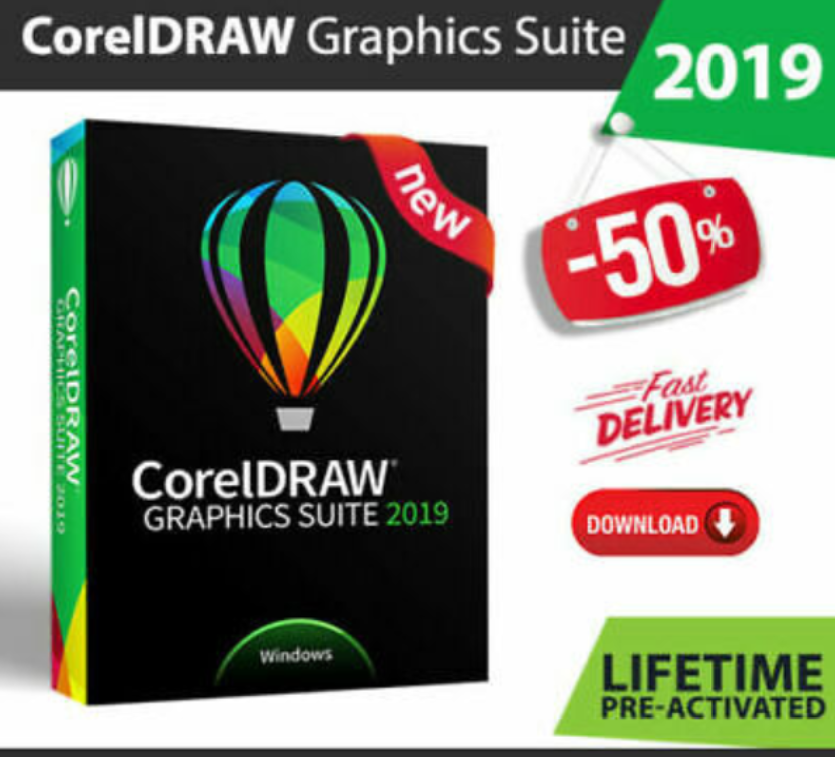 CorelDraw Graphics Suite 2019 Fast Delivery Lifetime Ac