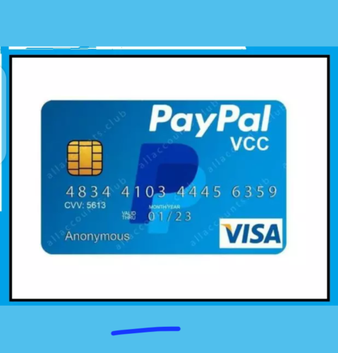 VCC VIRTUAL CARD FOR PAYPAL VERIFICATION WITH 2$ BALANC