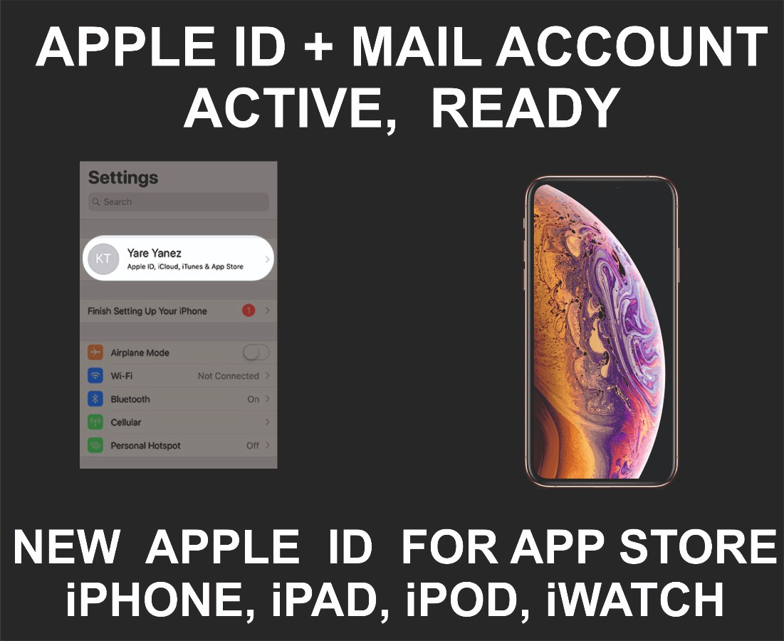 Apple ID New Account + Mail Account, Already Active, Re