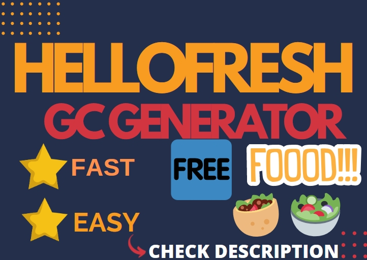 HelloFresh.com Voucher Card Generator[Order FREE Food]