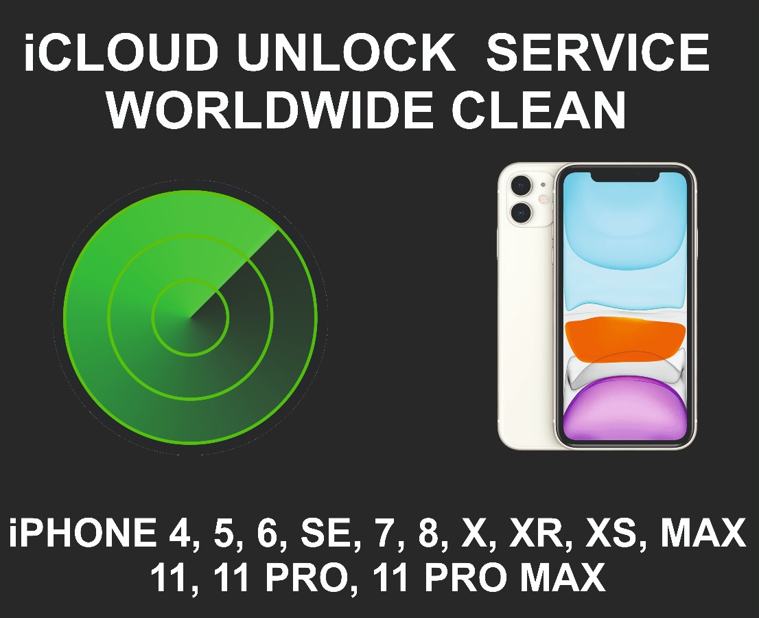 iCloud Unlock Service, Clean, iPhone 11, 11 Pro, Max