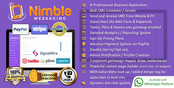 Nimble Messaging Professional SMS Marketing Application