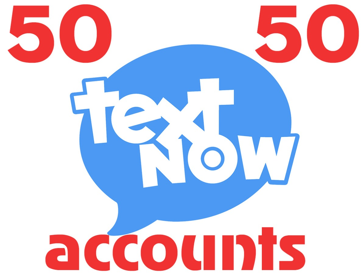 50 textnow.com accounts – USA virtual number