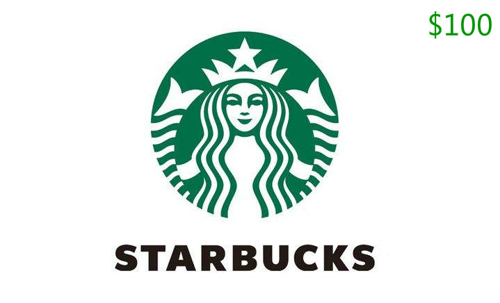 Total $100 starbucks gift card code