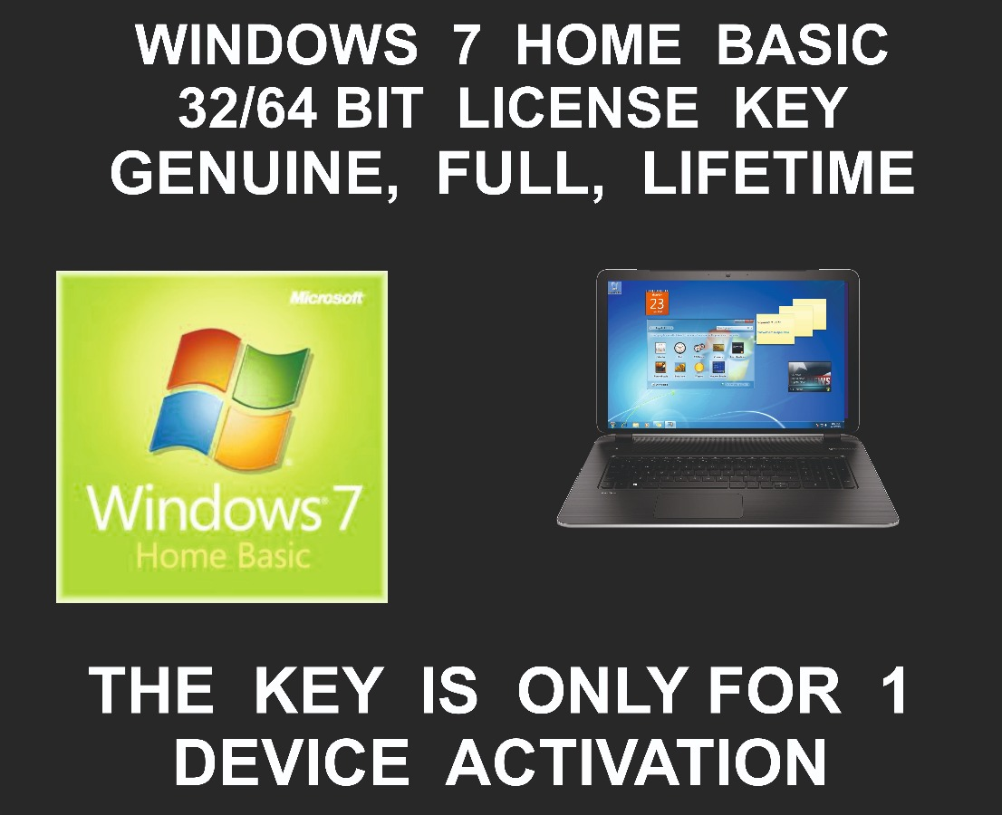 Windows 7 Home Basic License key and Download Link