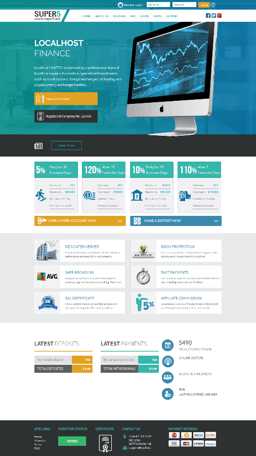 GoldCoders Hyip Template 01
