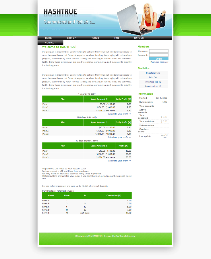 GoldCoders Hyip Template 04
