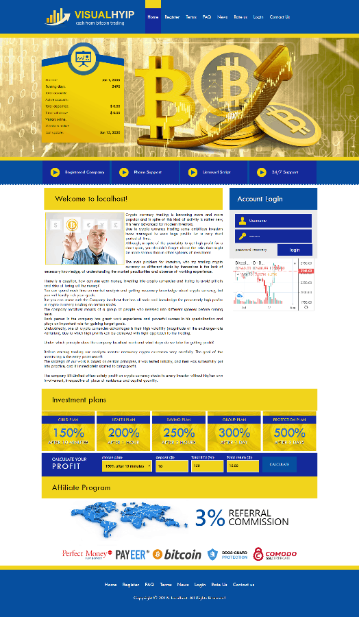 GoldCoders Hyip Template 05