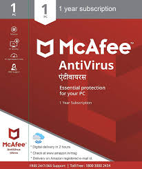 McAfee AntiVirus 1-PC 1 year