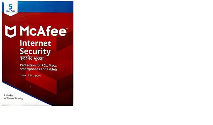 McAfee Internet Security 5-PC 1 year
