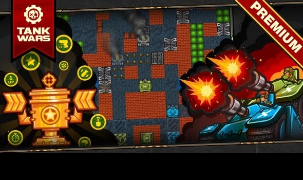 Tank Wars - HTML5 Game 120 Levels + Mobile