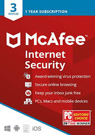 McAfee Internet Security 3-PC 1 year