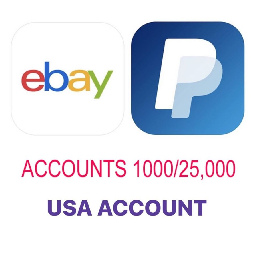 sell account ebay+pp seller USA 500-1k item no suspens