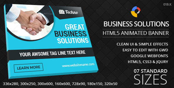 Business Solutions HTML5 Ad Banners