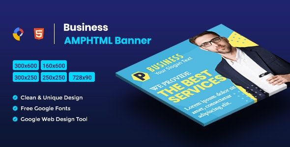 Business AMPHTML Banners Ads