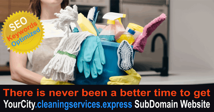 YourCity.cleaningservices.express SubDomain SEO Website