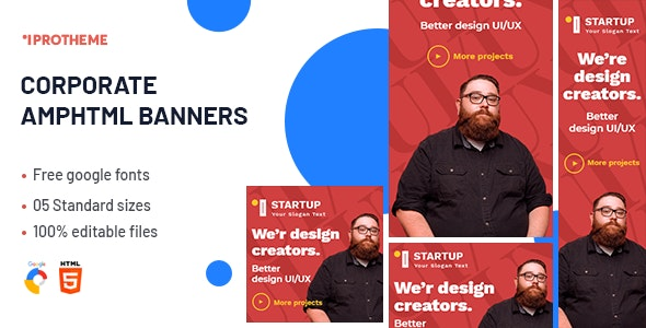 Corporate AMPHTML Banners Ads Template