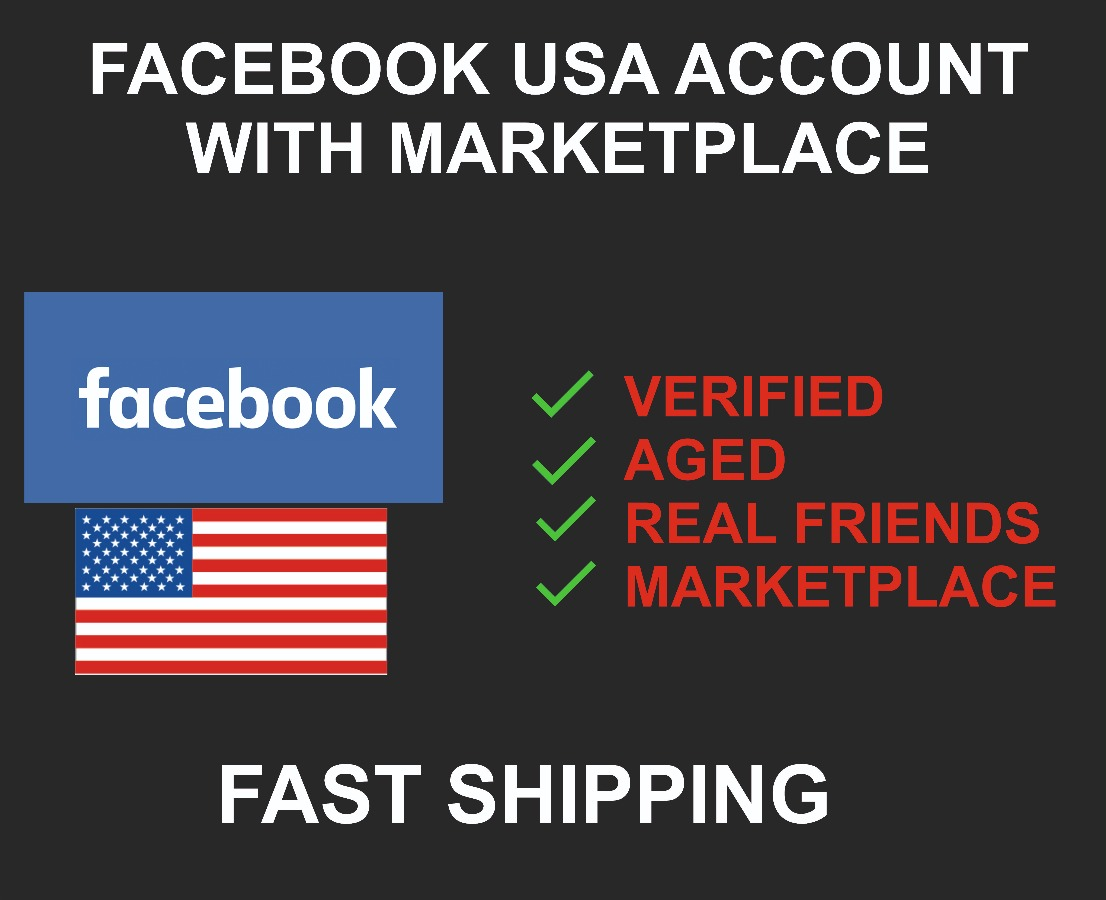 USA Facebook Account With Marketplace, Verified, Real