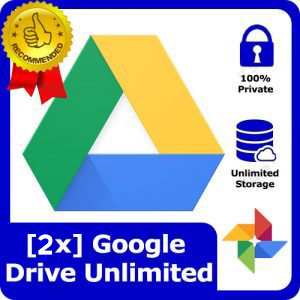 [2X] Google Drive Account Unlimited Cloud Storage
