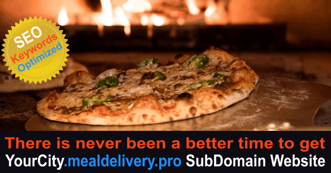 YourCity.mealdelivery.pro SubDomain SEO Website