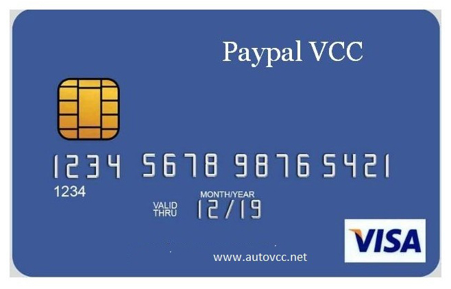 VCC for USA PayPal [Instant Verification] Expiry 3Years