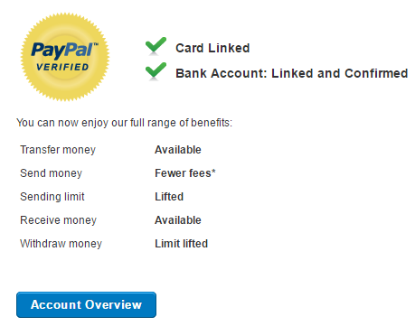 Spain / Spanish PayPal Account (NEW) Europe PayPal