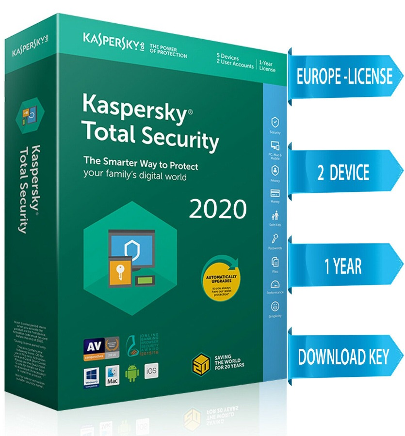 Kaspersky TOTAL Security 2020 2 PC / 2 DEVICE/ 1 Year