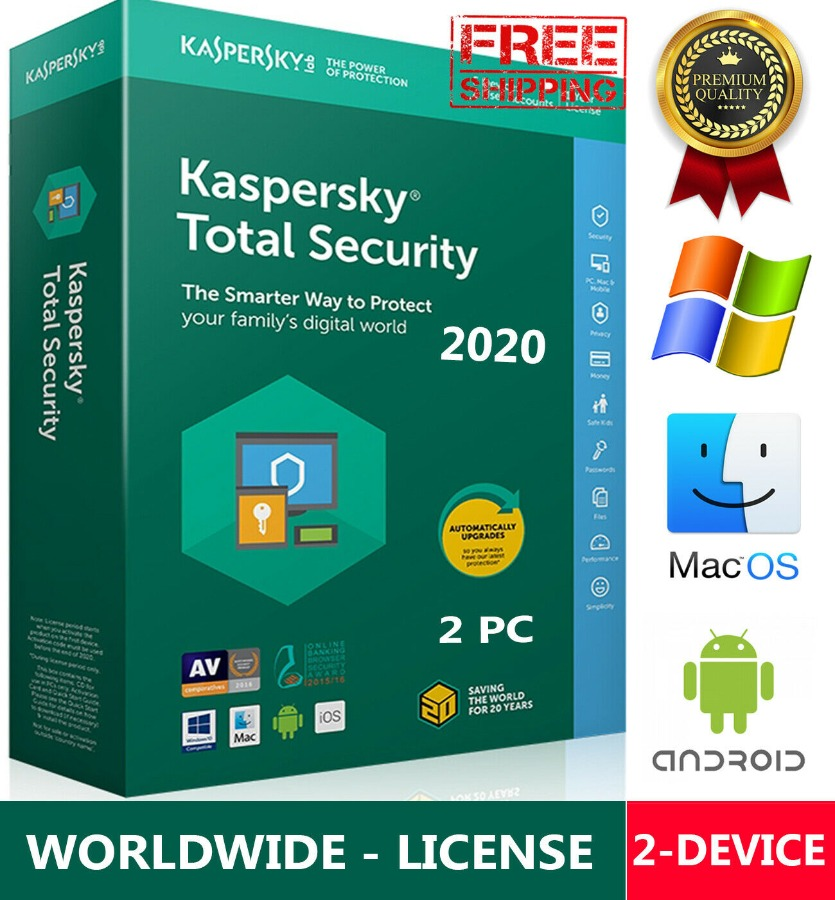 KASPERSKY TOTAL Security/ Win-Mac-Android /GLOBAL - KEY
