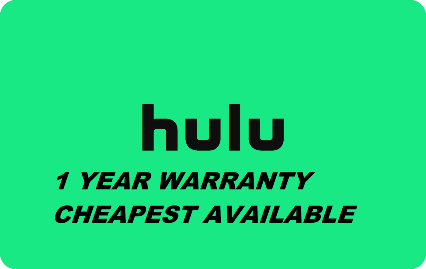 HULU PREMIUM ACCOUNT NO ADS + 1 YEAR